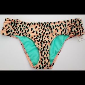 NWT Bar III bikini bottoms animal print size L